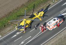 Symbolfoto Rettungshubschrauber ADAC Christopher beim Notfalleinsatz