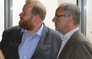 OB Klaus Jensen mit Stadtrat Markus Nöhl (SPD).