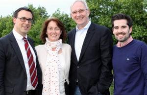 Wollen mehr sozialen Wohnungsbau in Trier: Sven Teuber, Wolfram Leibe, Dr. Katarina Barley mit Sören Bartol (v.r.n.l.).
