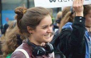 Die Autorin während der Silent Climate Parade 2014
