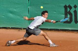 Der Argentinier Nicolas Kicker war im Halbfinale gegen Peter Torebko ohne Chance.