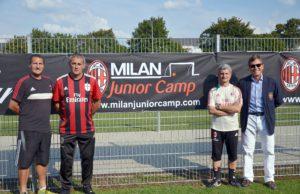 Die Trainer des AC Mailand (v.l.n.r): Massimo Ghioldi, Corrado Cotta, Angelo Laquintana und Antonio Borruso.