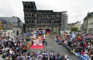 """Die """"Deutschland"""" ist wieder in Trier. Showstart und Siegerehrung erfolgen vor der Porta Nigra."""
