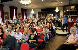 Volles Haus im Casino am Kornmarkt: Die SPD signalisierte Stärke.