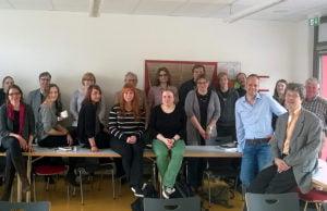 Uni-Seminar mit Prof. Dr. C. Jansen sowie Intendant Weber, Chefdramaturg Oppermann und Musikdramaturg Dr. Larsen.