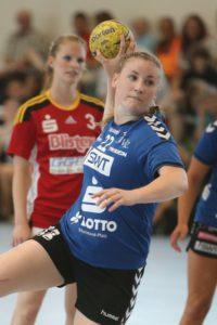 Joline Müller war mit 11 Treffern beste Werferin der Miezen. Foto: TriSign