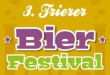 """Grafik des Schriftzuges """"3. Trierer Bierfestival"""""""