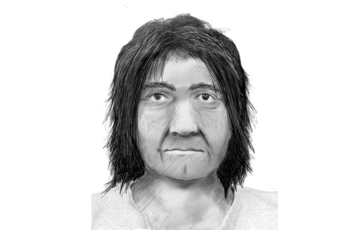 Phantombild vom mutmaßlichen Vergewaltiger in schwarz-weiß.