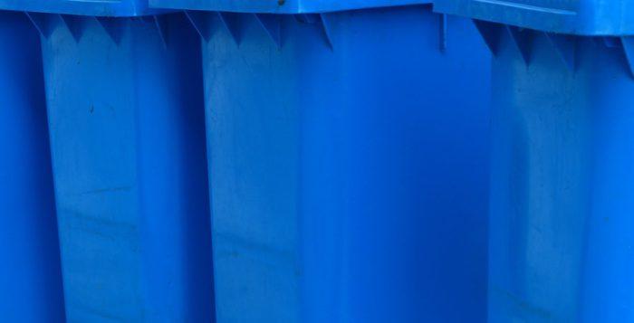 Blaue Tonnen