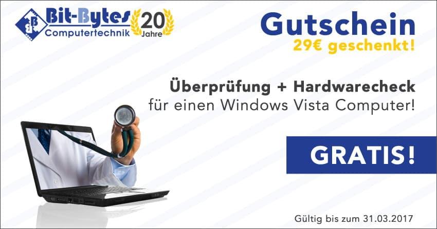 Gutschein Vista - Überprüfung und Hardware-Check
