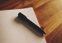 Blatt und Stift