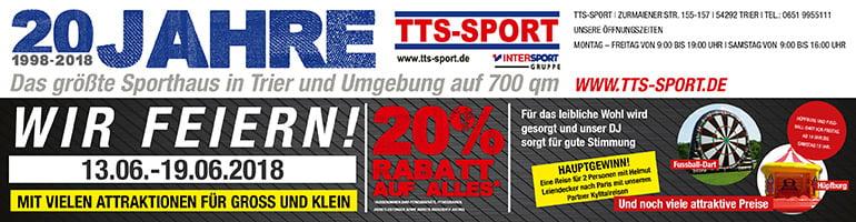 TTS-SPORT: Das größte Sporthaus in Trier und Umgebung!