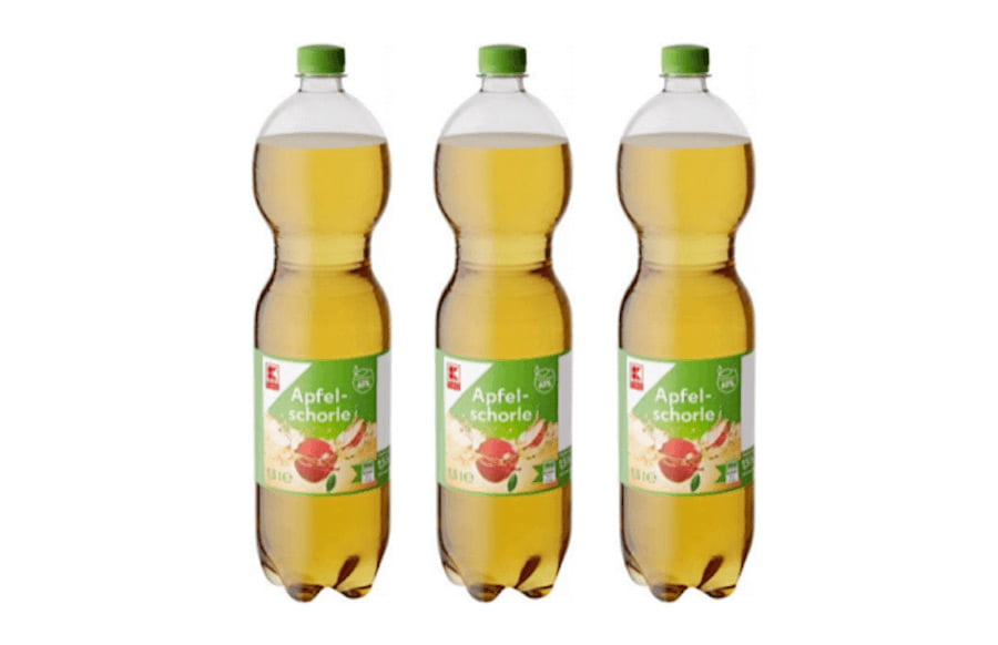 Kaufland: Refresco ruft Apfelschorle zurück