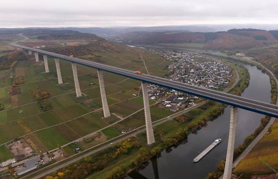 Hochmoselbrücke - Zweithöchste Brücke Deutschlands ist fertig