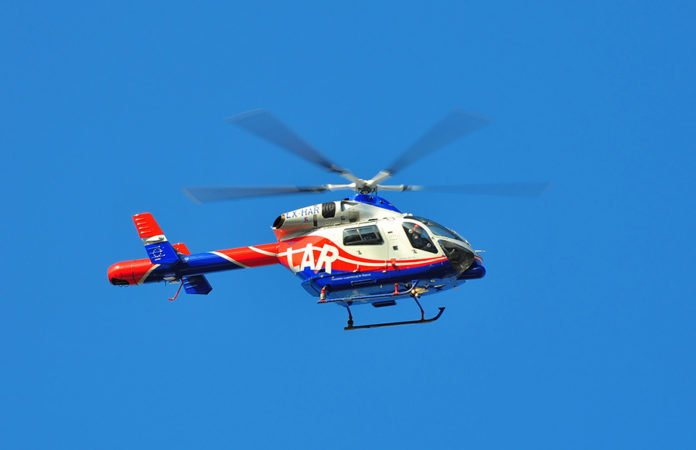 Hubschrauber Air Rescue Luxemburg