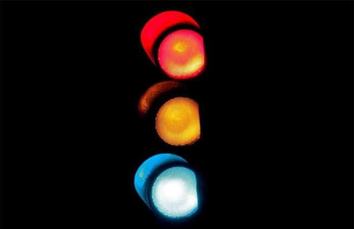 Ampel mit drei Farben