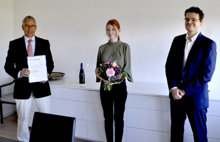 Auszeichnung für Stundentin: HWK-Ökonomiepreis für Natalie Welch aus Konz