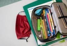 Schule und Mundschutz
