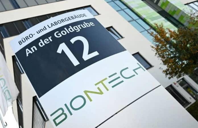 Firmenschild Biontech