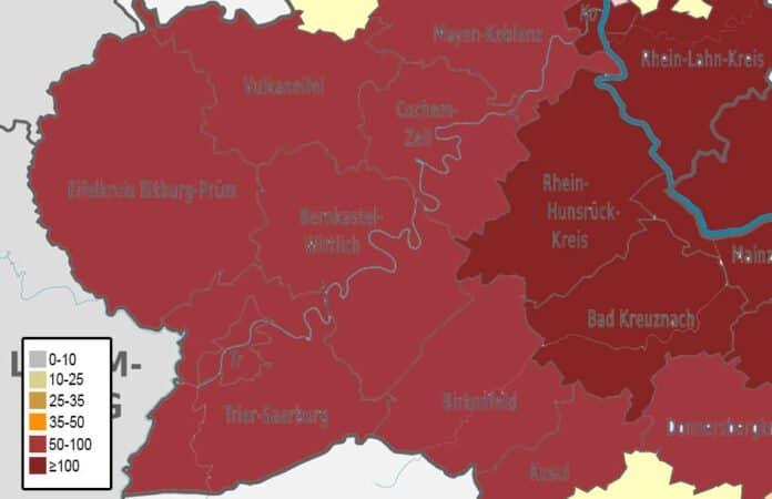 Corona Inzidenzwerte Landkreise Region Trier 14-01-21
